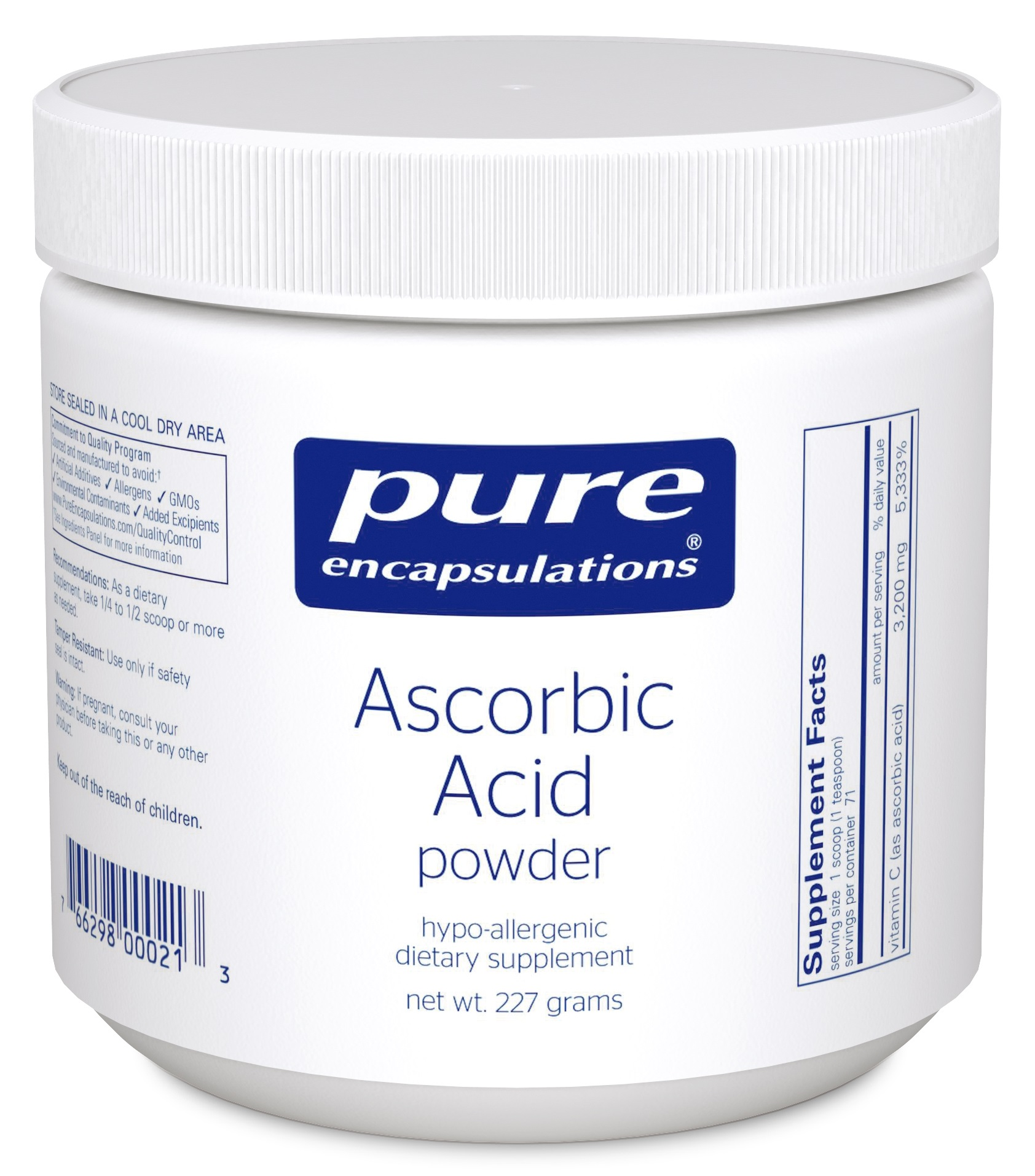 Pure Encapsulations Ascorbic Acid powder