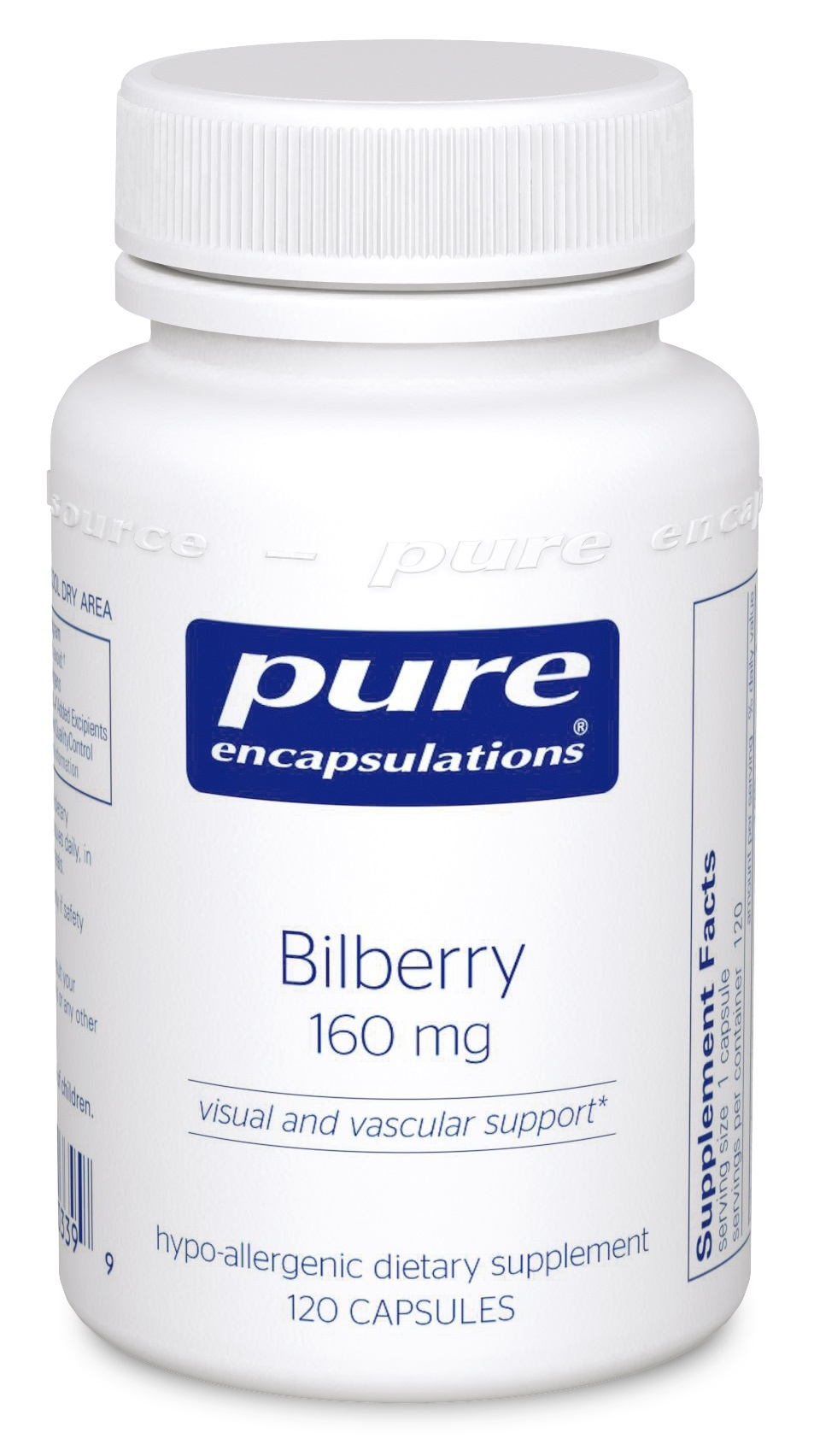Pure Encapsulations Bilberry 160 mg
