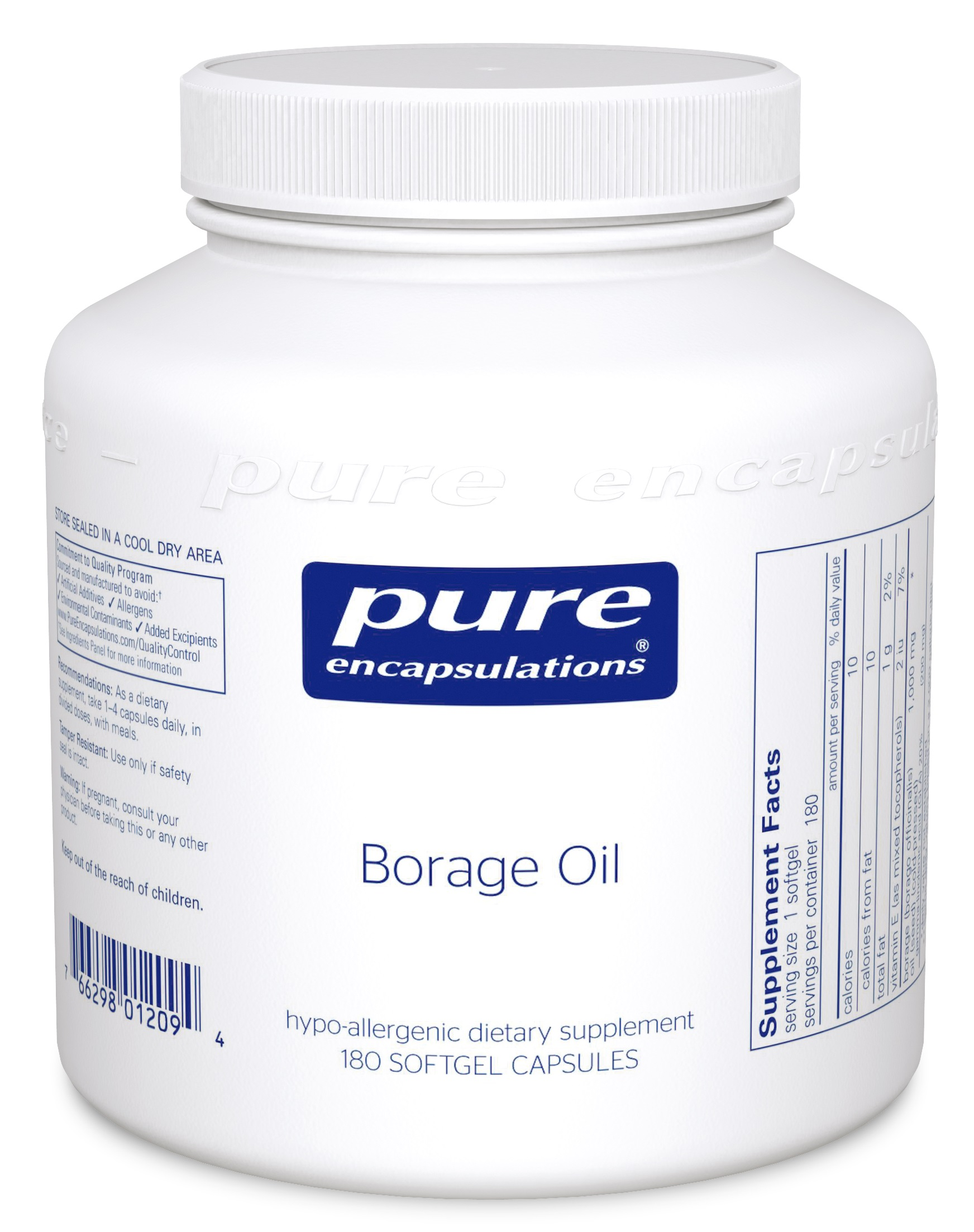 Pure Encapsulations Borage Oil