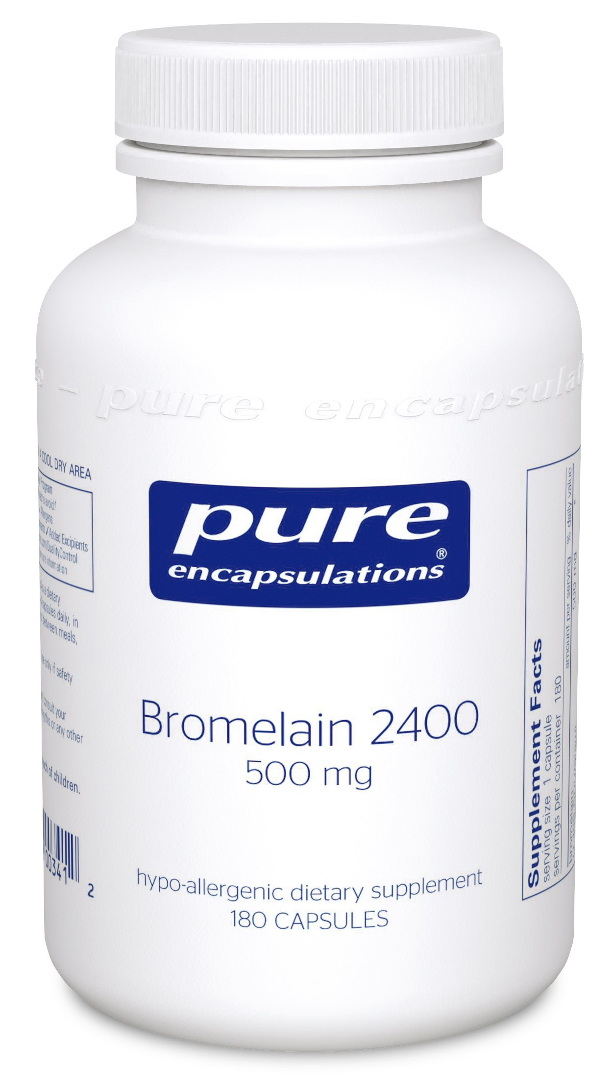 Pure Encapsulations Bromelain 2400 500 mg