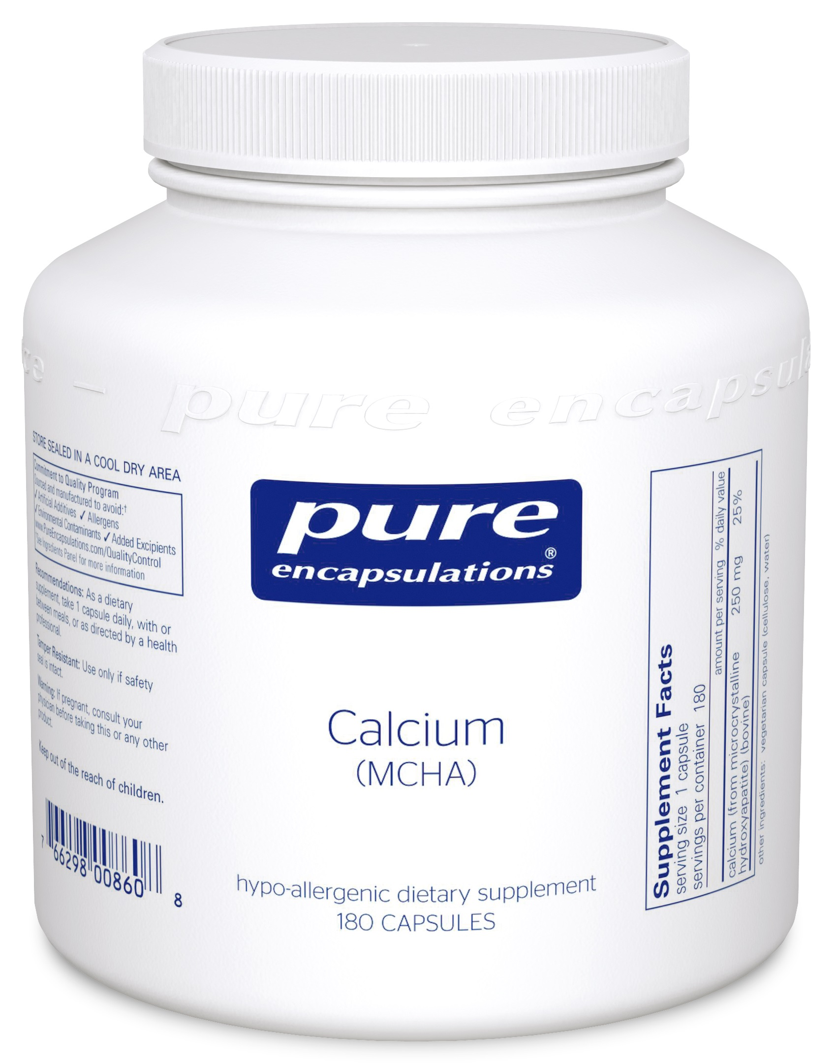 Pure Encapsulations Calcium (MCHA)