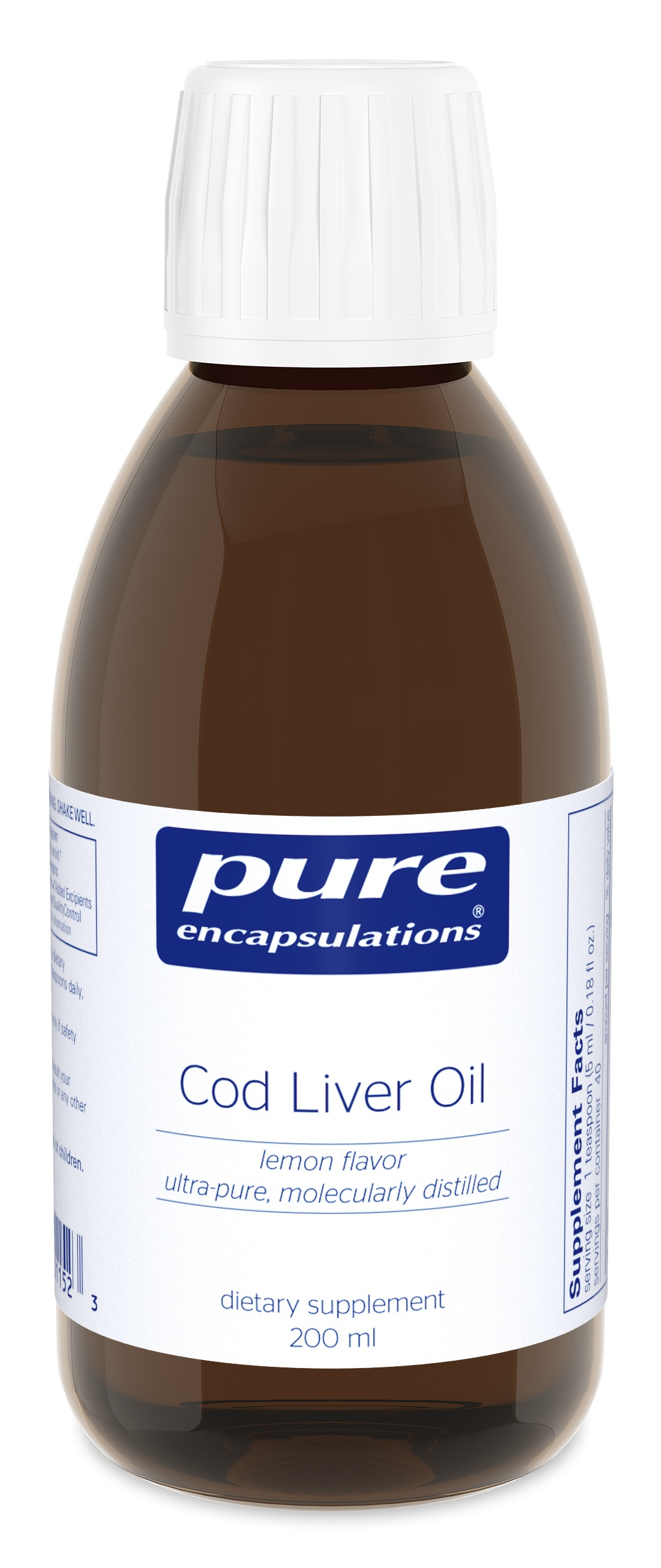 Pure Encapsulations Cod Liver Oil (lemon flavor)