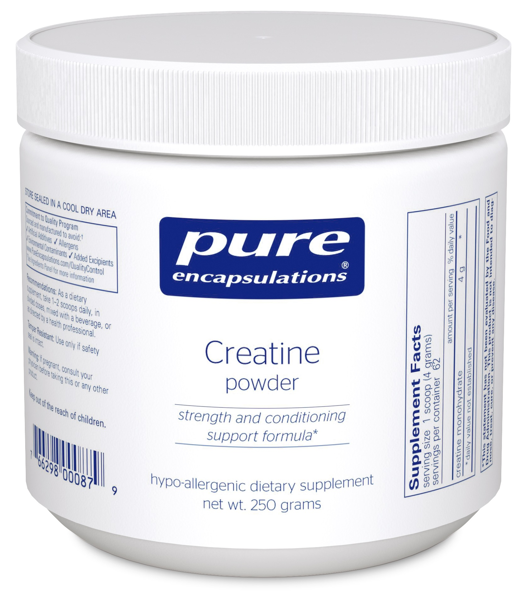 Pure Encapsulations Creatine monohydrate powder
