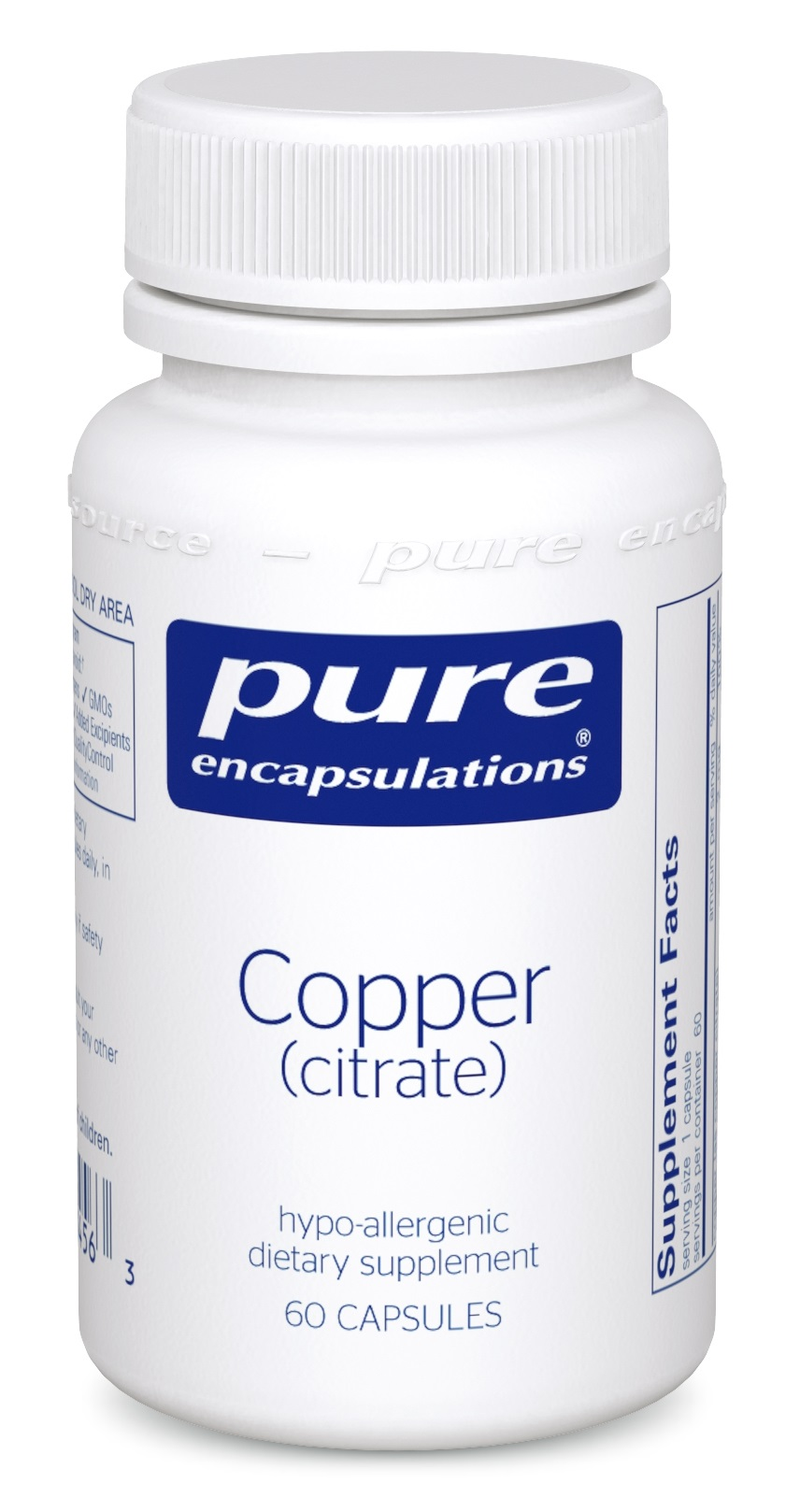 Pure Encapsulations Copper (citrate)