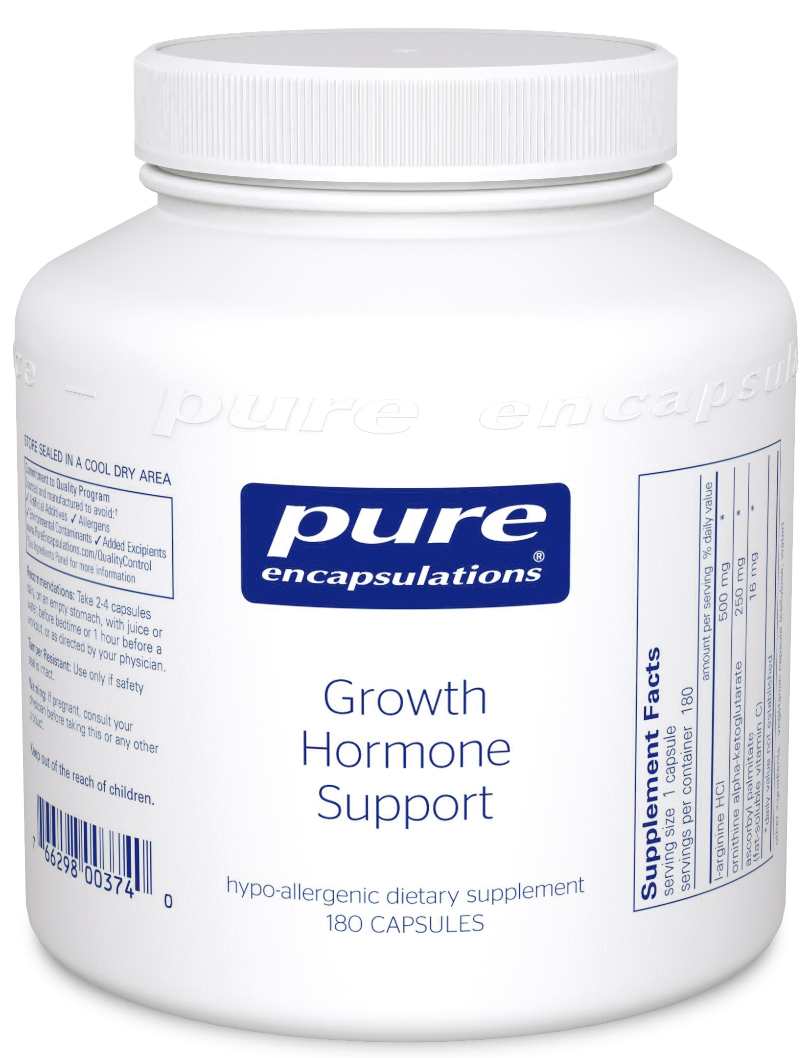 Pure Encapsulations Growth Hormone Support*