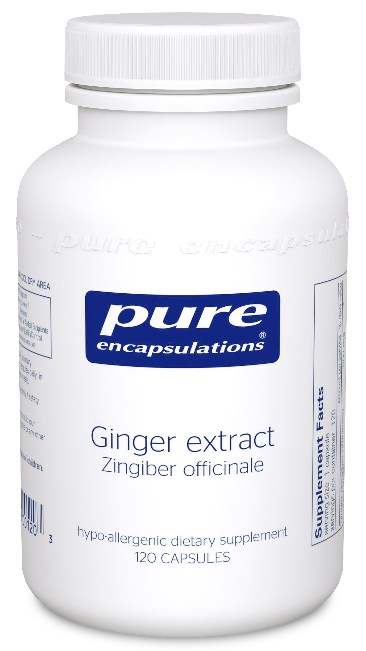 Pure Encapsulations Ginger Extract 120's