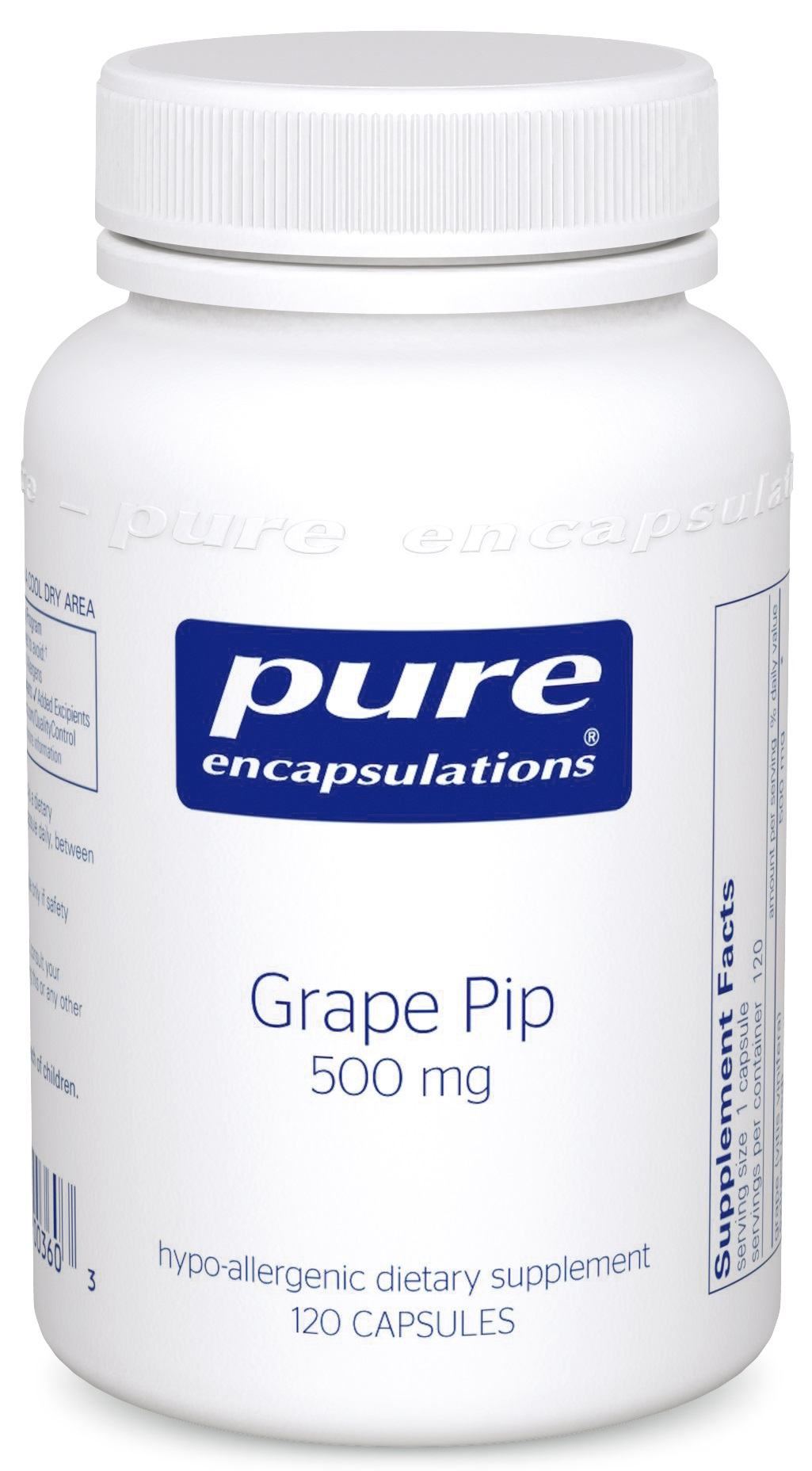 Pure Encapsulations Grape Pip 500 mg