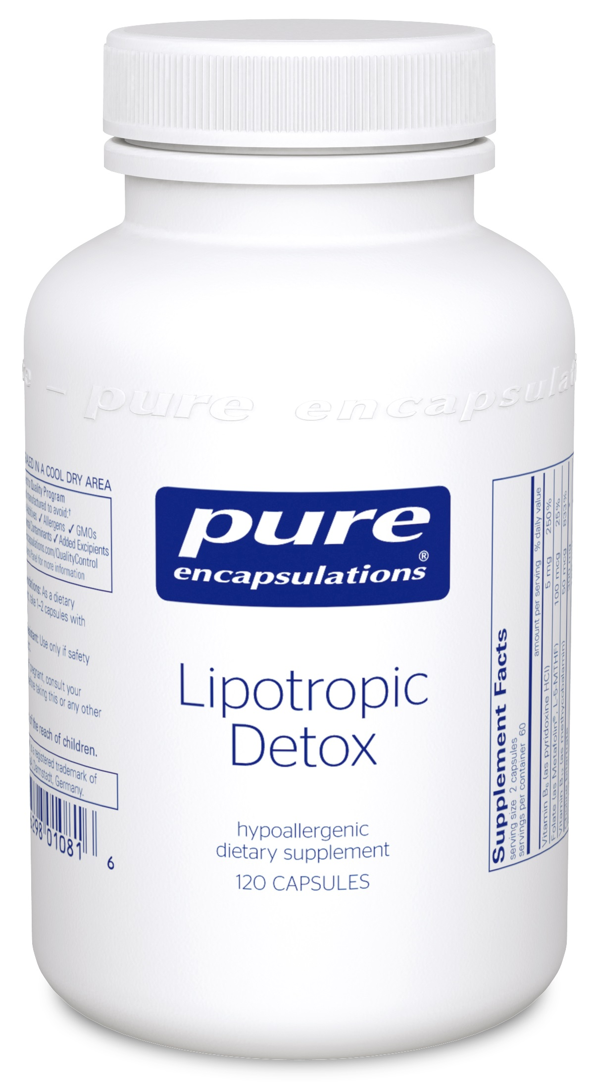Pure Encapsulations Lipotropic Detox