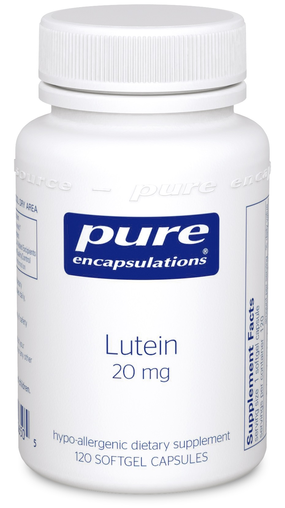 Pure Encapsulations Lutein 20 mg