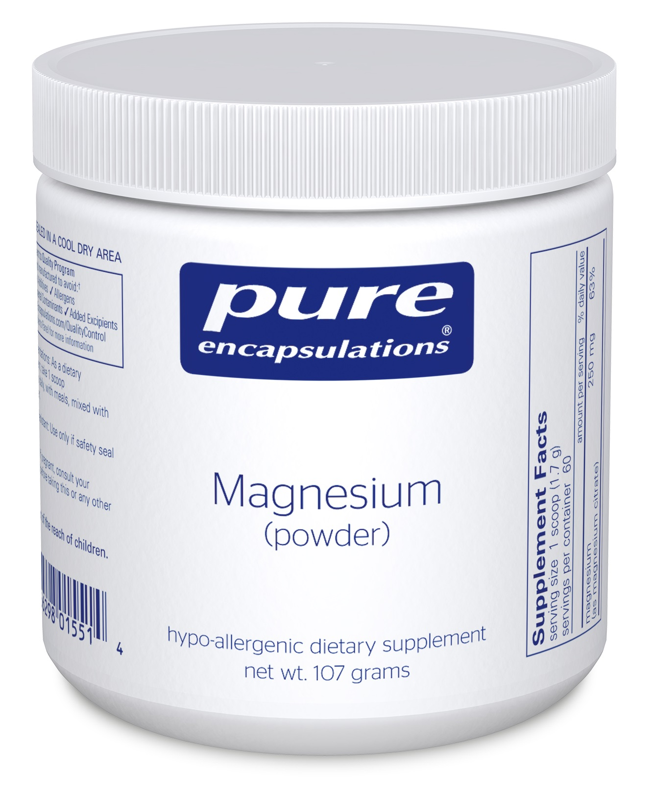 Pure Encapsulations Magnesium (powder)