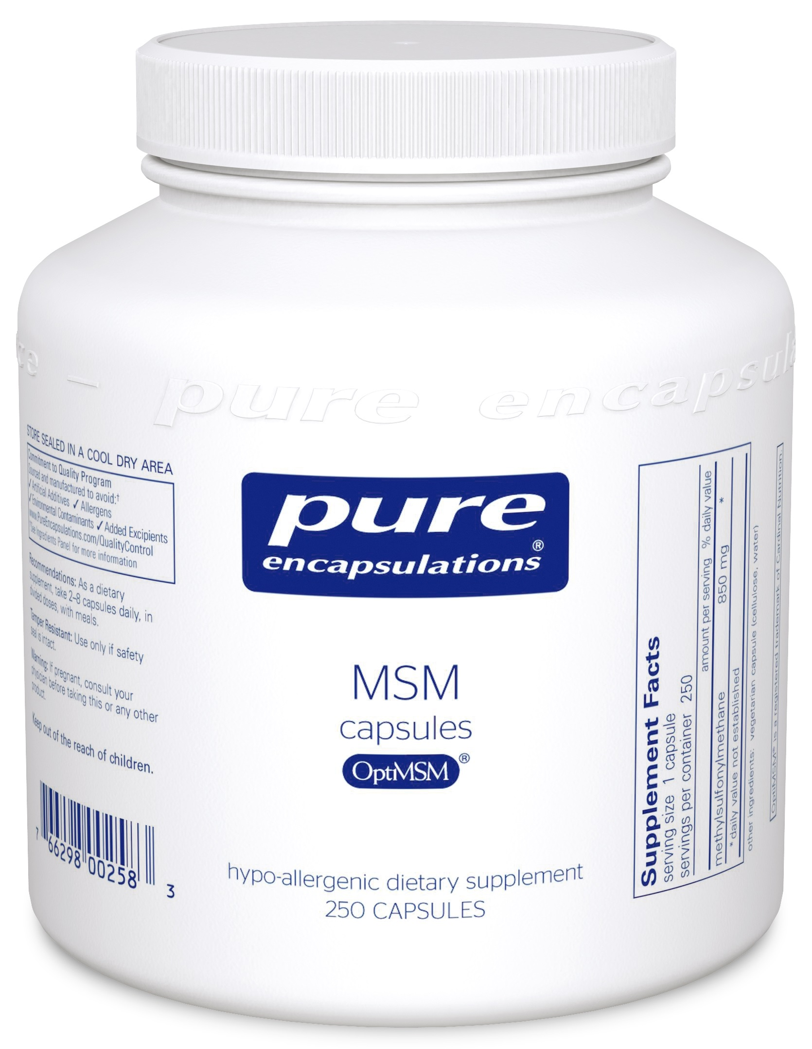Pure Encapsulations MSM capsules