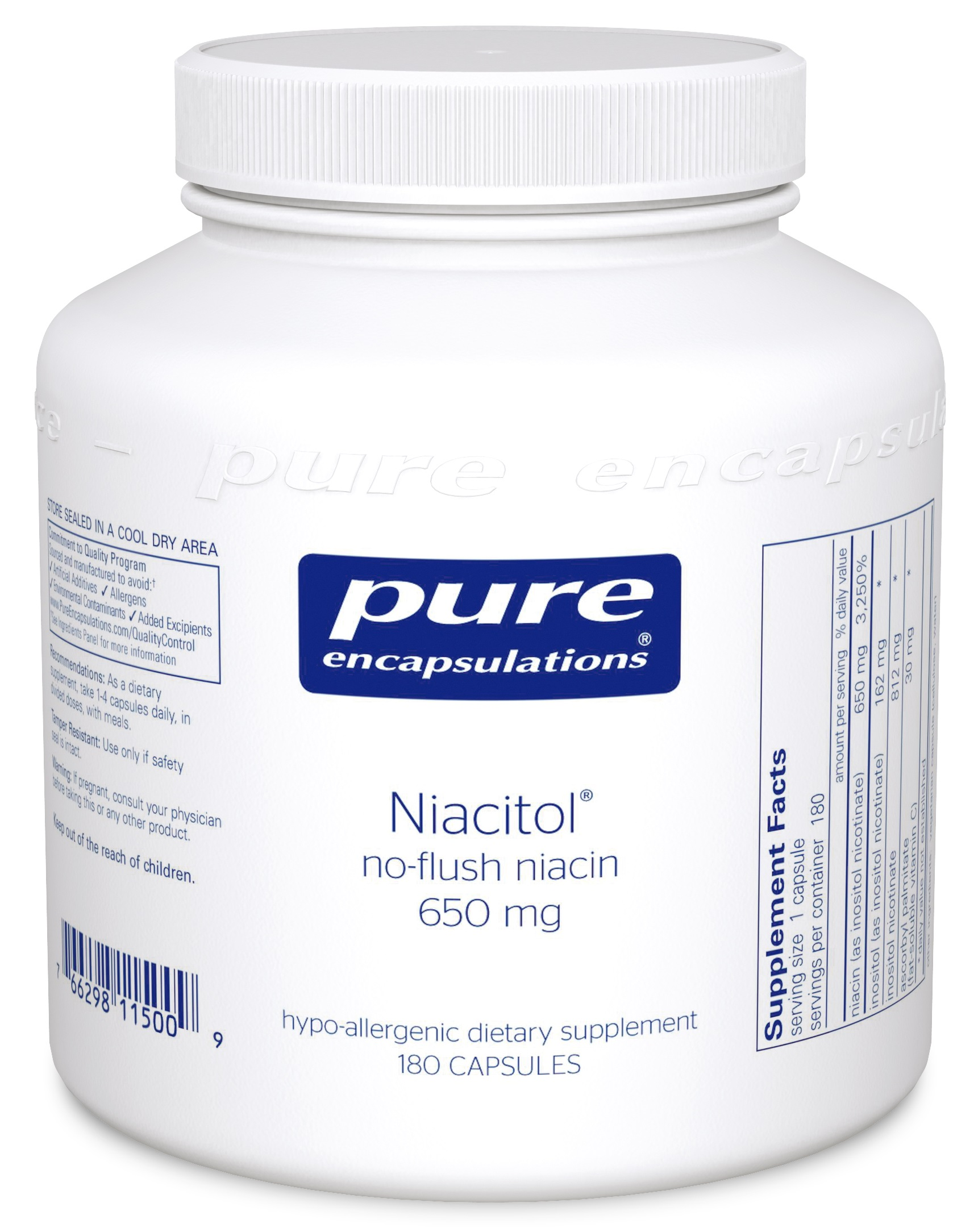 Pure Encapsulations Niacitol 650 mg