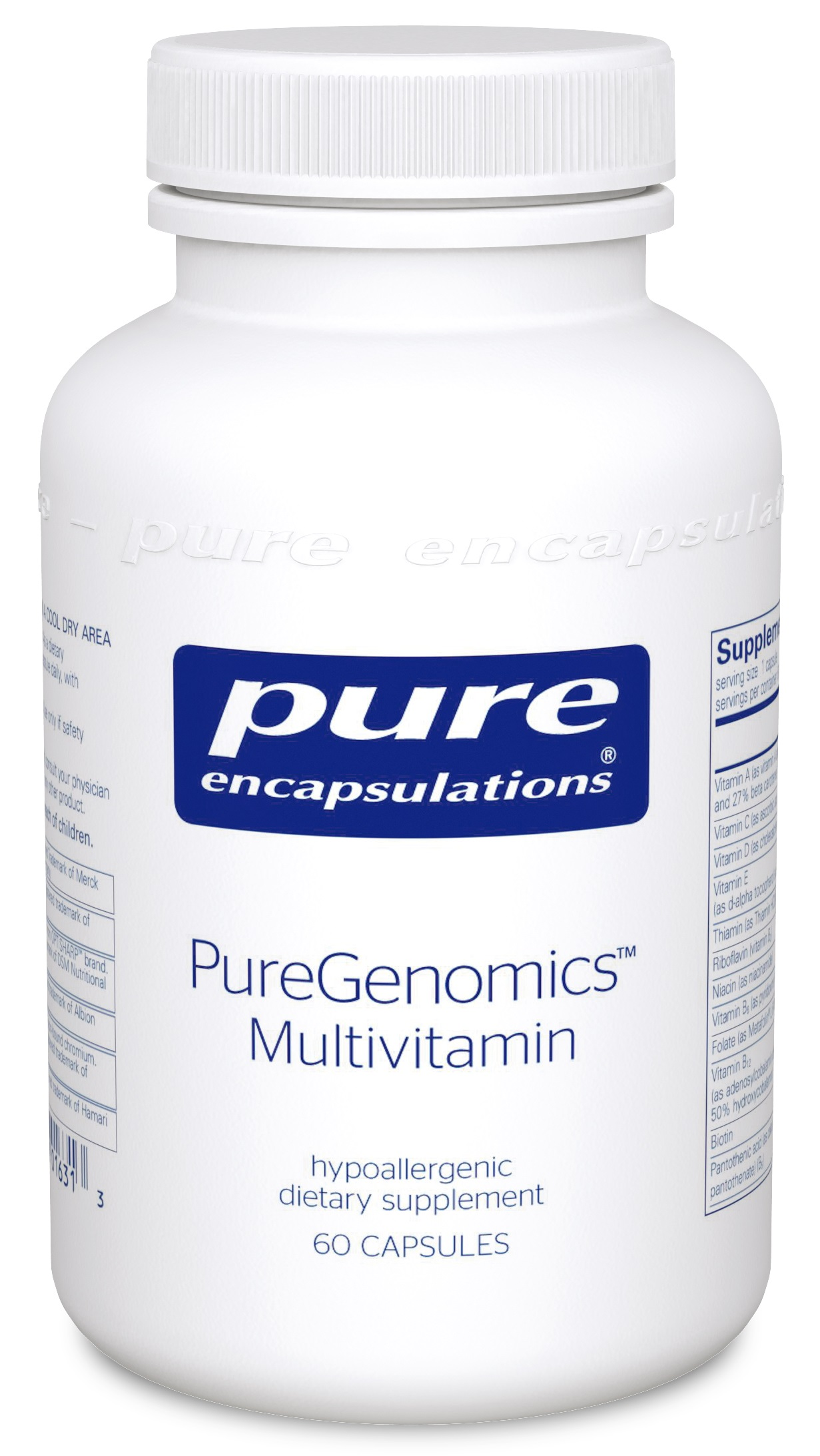 Pure Encapsulations PureGenomics® Multivitamin 60's - IMPROVED