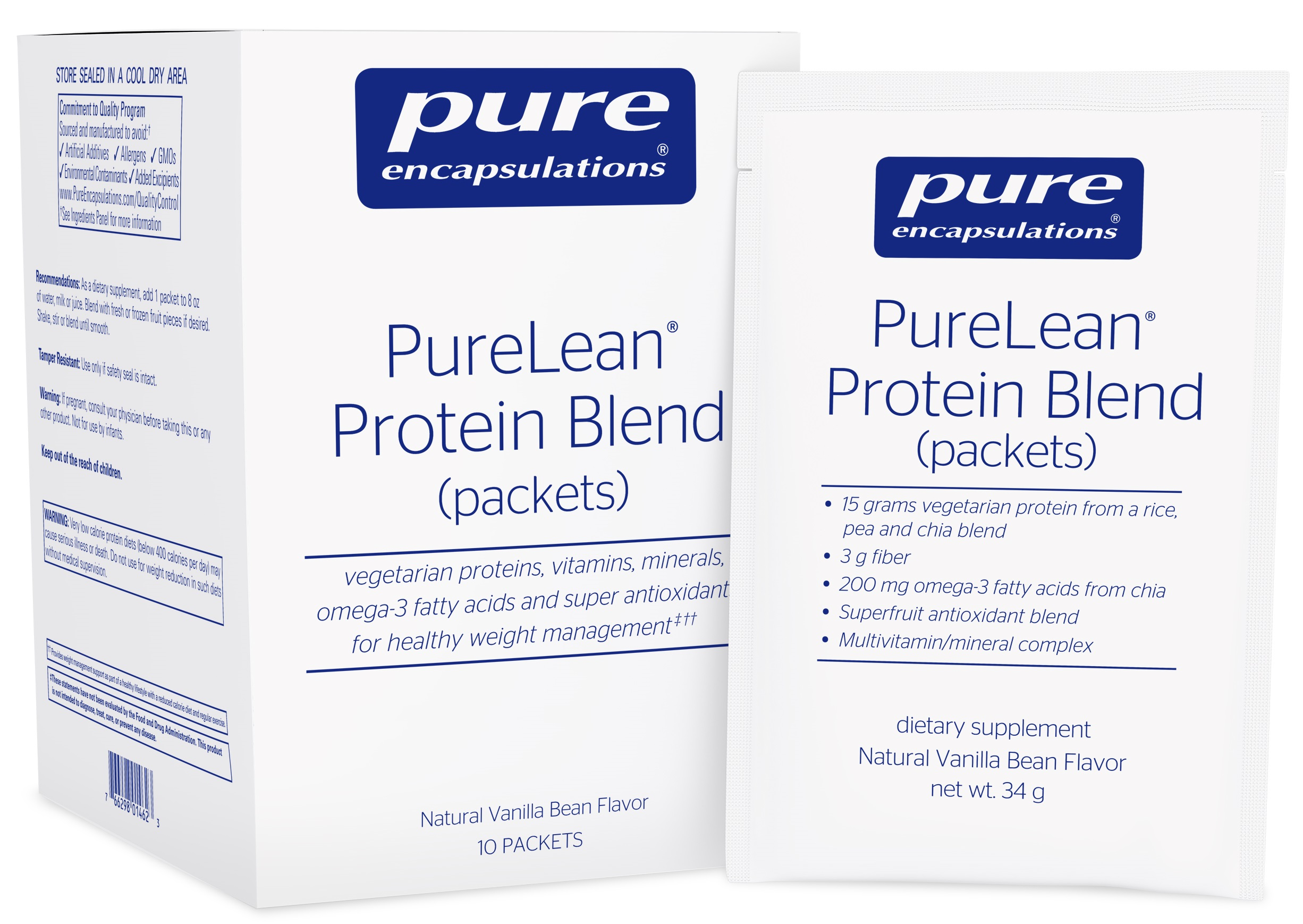Pure Encapsulations PureLean® Protein Blend (packets)