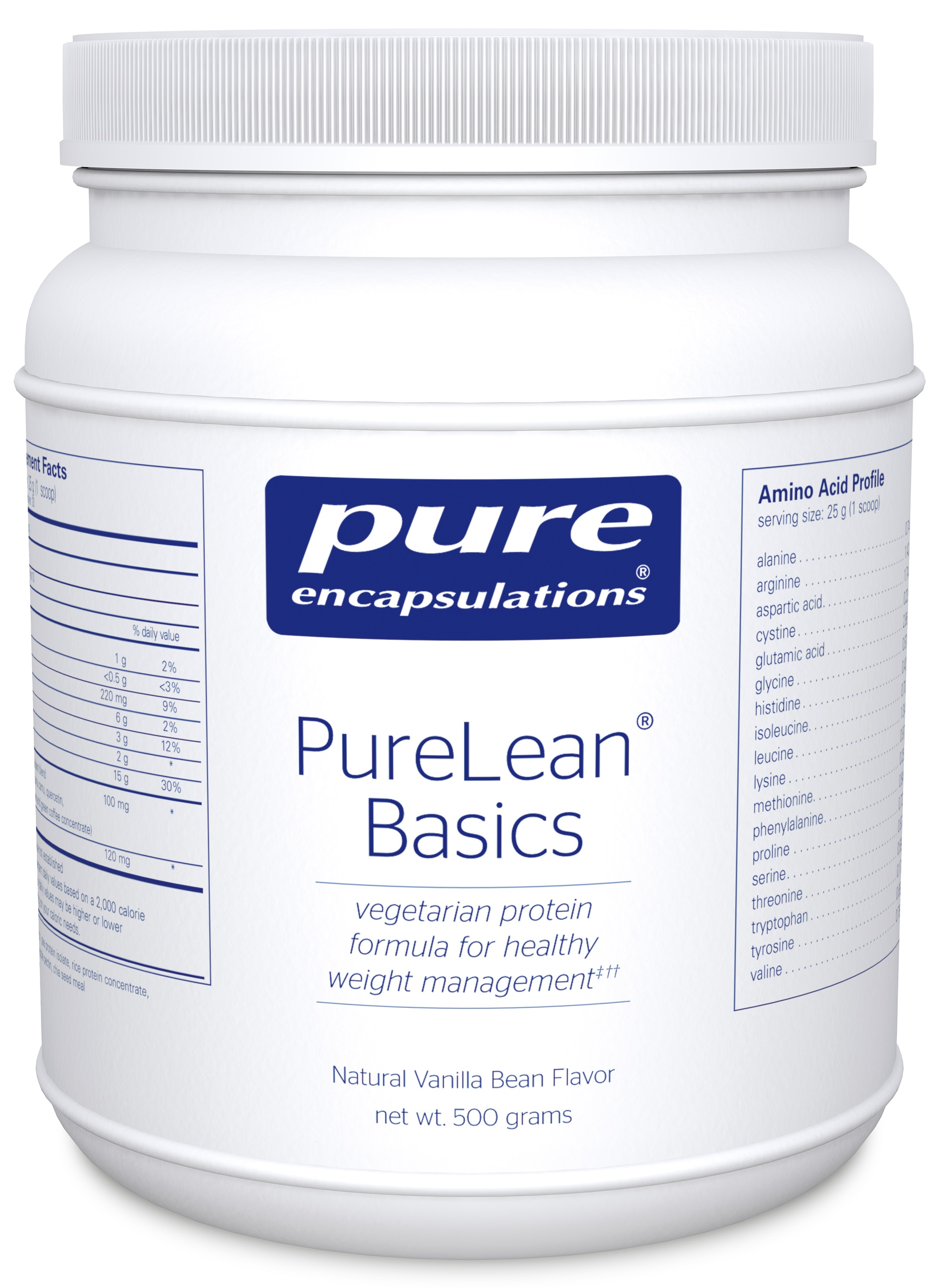 Pure Encapsulations PureLean® Protein Blend Basics Vanilla Bean Flavor (with Stevia)