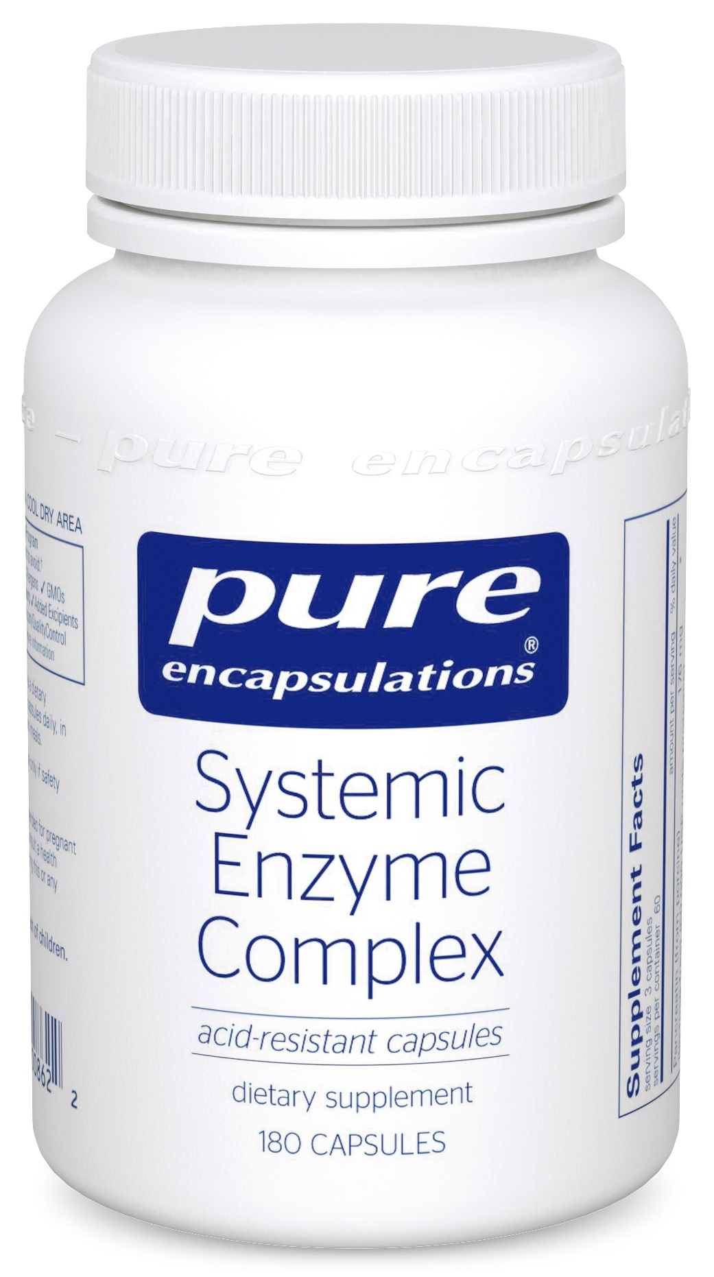 Pure Encapsulations Systemic Enzyme Complex 180's