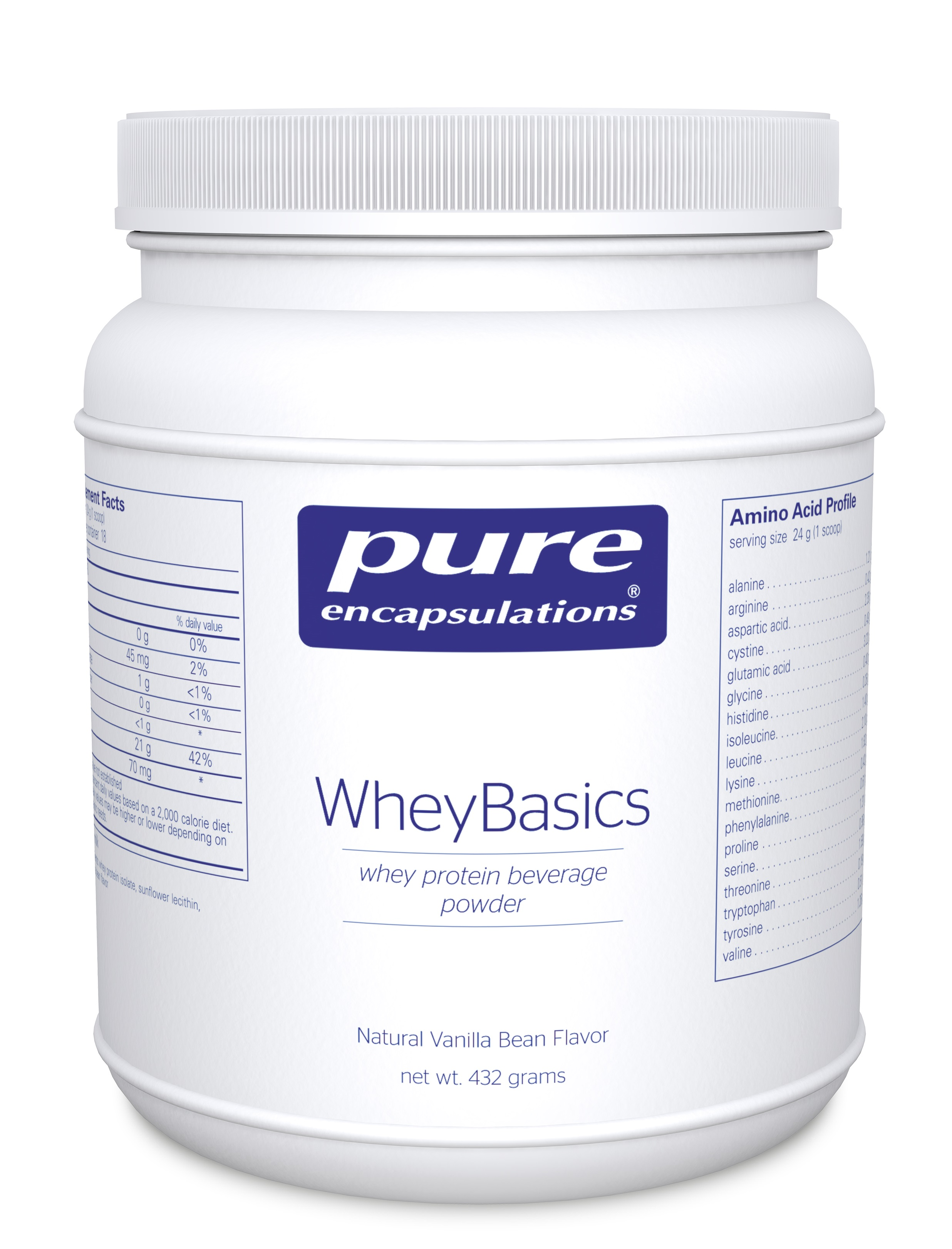 Pure Encapsulations Whey Basics Vanilla Bean flavor